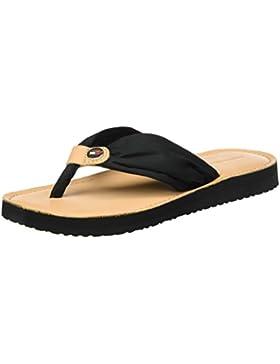 Tommy Hilfiger Damen Leather Footbed Beach Sandal Zehentrenner