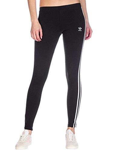 adidas Damen 3 Streifen Leggings 3 Streifen, Schwarz (Black), 36 (Herstellergröße: 10)