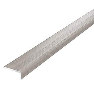 SELF-Adhesive Oak Walnut Anodized Threshold Laminate Floor Edge Profile Stop End 2 Meters TMW Profiles (White Oak)