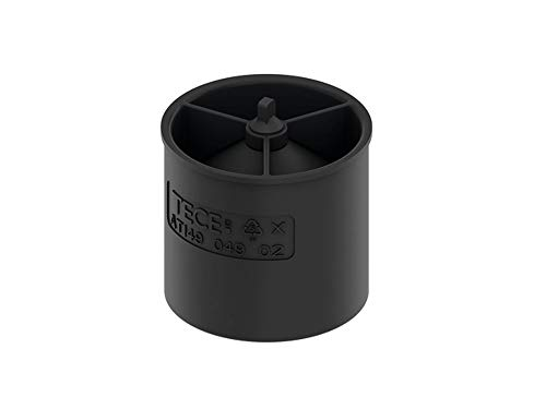 TECE 660016 drainline Geruchsverschluss (Höhe 4,5 cm; zweistufiger Siphoneffekt; Membranverschluss), schwarz