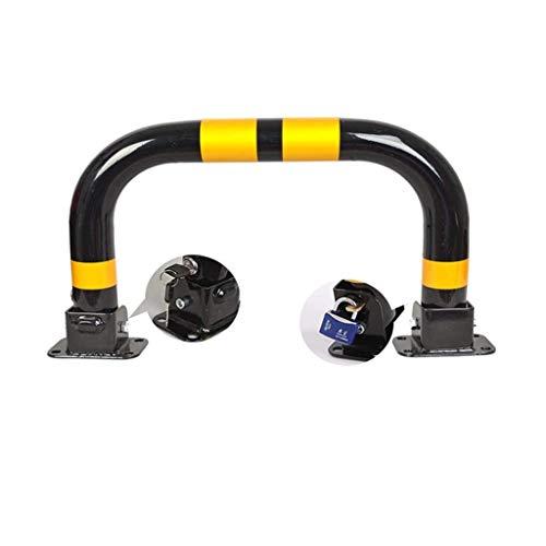 ZSMPY Parksäule Klappbaren Sicherheitsbarriere Mit Schlüsselbolzen Und Ziehen Doppelverriegelung/Selbstverschluss Am Sicherheitsstütze Schwarz Yellow (Color : Black, Size : 60 * 33cm)