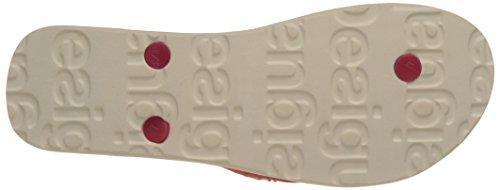Desigual Damen Flip Flop Flores and Rayas Sandalen Weiß (white 1000)