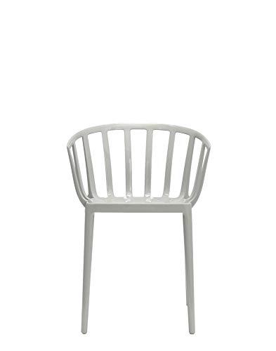 Kartell 5806/07 Venice Chaise - Polycarbonate - Lot de 2 Chaises - 51x75x51 cm - Gris