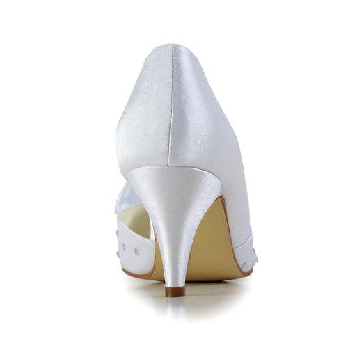 Jia Jia Wedding 594943A Scarpe Sposa Scarpe col tacco donna Bianco