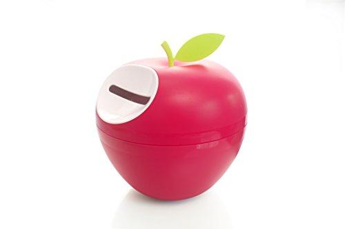 Portarrollo papel higiénico en plástico de alta calidad. Dispensador de papel higiénico móvil, original y con tapa. Diseño en forma de manzana decorativa.