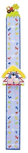 Goki Kinder Messlatte Wachstumsmesser Messleiste aus Holz, Modell:Bauernhof