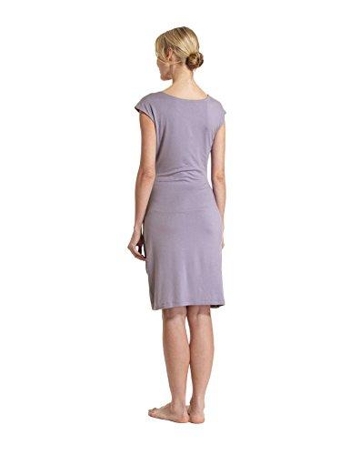 Raikou Damen Etui Kleid Jersey Dress, Knielang, Blusenkleider, Wickelkleid, Cocktailkleid Partykleid Stretch Kleider Figurbetontes Kleid aus ViskoseV-Ausschnitt Pflaume