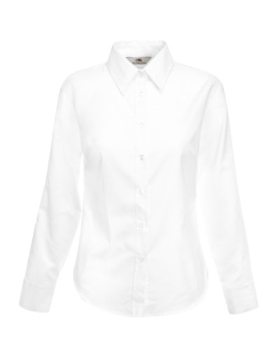 Fruit Of The Loom T-Shirt L/S Blanc - Blanc