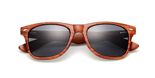 DAIYSNAFDN Handgefertigte Holz Sonnenbrille Männer Frauen Platz Sonnenbrille Holz Brille Uv400 Spiegel C1