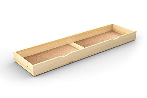 Under bed drawer sous Lit tiroir, DE Rangement sous Lit, lit (Pin, 188 cm)