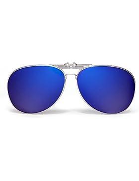 Gafas de Sol Aviador Clip En Retro Lentes Polarizados Flip up Conducir Anteojos Hombre