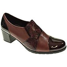 Zapato Tacon - Mujer - Burdeos - pitillos - 5244