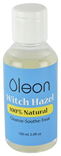 Oleon Natural Witch Hazel - Cools Calms Cleanses And Treats Clogged Pores Sunburn Acne Puffy Eyes Diaper Rash Skin Inflammation Varicose Veins After Shave Treatment - An Effective Skin Care Remedy