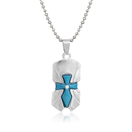 Nakabh-Stylish-Cross-Rhodium-Blue-Plated-Alloy-Pendant-With-Chain-for-Boy-Men-and-Women-Girl