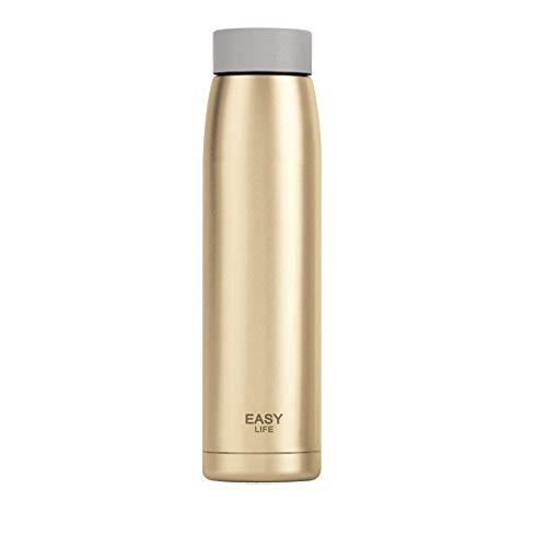 Igemy Mode Büro Wasserflasche Outdoor Becher Tasse Reise Vakuum Business Thermosflasche (Gold)