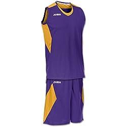 Joma Space - Camiseta y pantalón de baloncesto para hombre, color morado / dorado, talla M