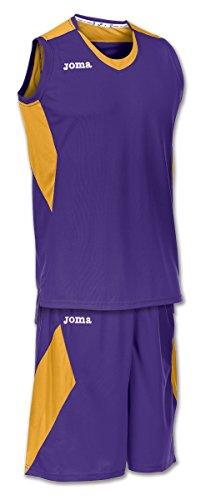 Joma Space - Basketball-Shirt und -Hose für Herren, Farbe weiß / marineblau.  Größe M MORADO-DORADO
