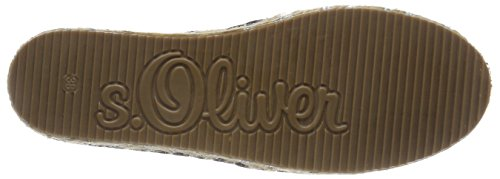 s.Oliver Damen 24208 Espadrilles Schwarz (Black)