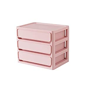 ZHAO ZHANQIANG Plastic Simple Desktop Storage Box Drawer Type, 3 Layers (Color : WY82)   5