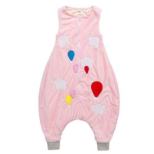 Imagen para Sacos de Dormir para niños 1.5 Tog con Piernas Cremallera Frontal 3-5 Años