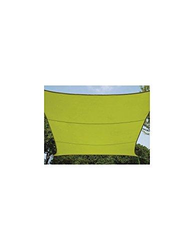Perel GSS4320LG Sonnensegel - Rechteckig, Lime Grün, 200 x 300 x 0.2 cm