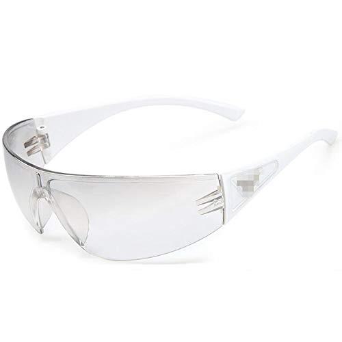 Easy Go Shopping Tragbare Schutzbrille Winddichte Reitbrille UV-Schutz Graue Linse Sonnenbrillen und Flacher Spiegel (Color : 2, UnitCount : 2PCS)