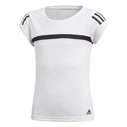 adidas Mädchen Graphic Club Kurzarm T-Shirt, White, 170