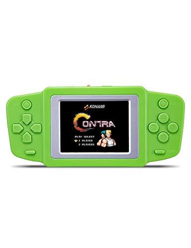 CZT 6,35 cm (2,5 Zoll) LCD-Bildschirm, tragbar, Vedo-Spielkonsole, schöne Optik, gebaut in 268 Retro-Spiele betrieben durch (3 x AAA) oder Li-Polymer-Akku, Kinder (rot)