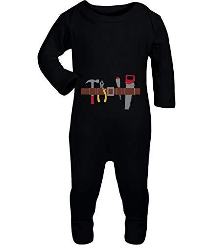 Shirtgeil Handwerker Baby Halloween Kostüm Baby Strampler Strampelanzug 3-6 Monate (62/68) ()