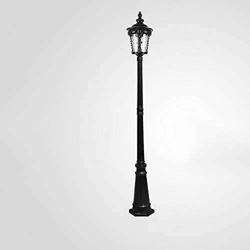 IBalody Nordic Traditionelle E27 Single Head Street Säule Licht Hohe Pole Glas Laterne Antique Vintage IP65 Wasserdichte Outdoor Landschaft Post Licht Gartenweg Rasen Gang Dekorative Säule Lampe -