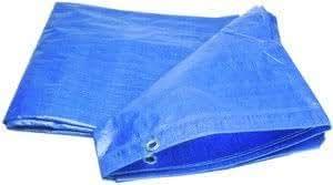 Tarpaulin (12 ft x 18 ft) 100% Virgin UV Treated 120 GSM Blue Waterproof Plastic Sheet
