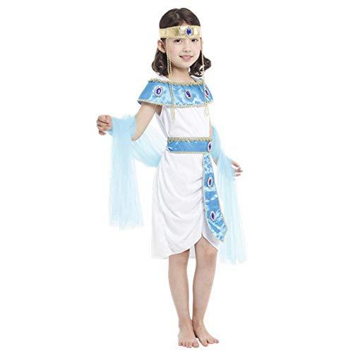FYMDHB886 Halloween Kostüm Kostüm Kinder Leistung Kostüm Mädchen Ägyptische Prinzessin Set Halloween Cosplay (Sexy Ägyptische Prinzessin Kostüm)