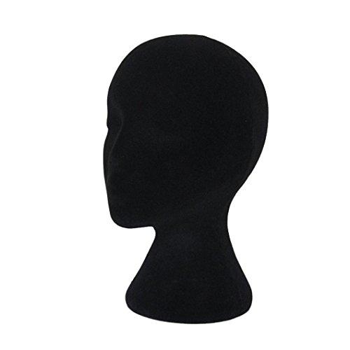 Kopf Modell FORH Styropor Schaum Trainingsköpfe Weibliche Kopf Modell Dummy Perücke Brille Hut Display-Ständer Haarpflege & Styling (Schwarz)