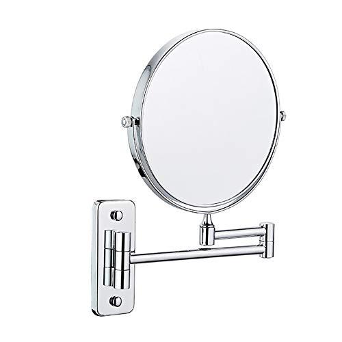 Yuciya Espejo de Maquillaje de Montaje en Pared con Aumento de 10x, Giratorio de 360...