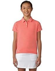 adidas Cotton Hand Polo De Golf, Niña, Coral, 12 Años