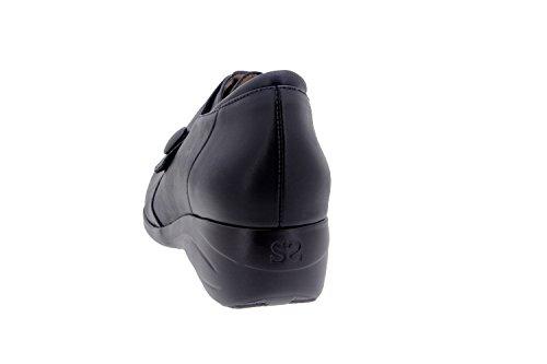 Chaussure femme confort en cuir Piesanto 3984 casual comfortables amples Noir