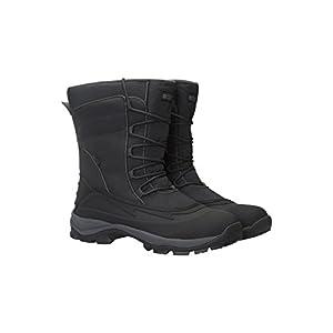 Mountain Warehouse Park-Schneestiefel für Männer – schneedicht, wasserfest, Sherpa-Futter, Außensohle mit starker Bodenhaftung – Camping, zum Zufußgehen in kaltem Wetter