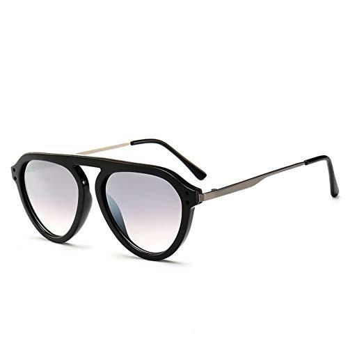 Yuanz Mode Oval Big Frame Sonnenbrille Persönlichkeit Metall Sonnenbrille Für Männer Und Frauen Retro Single Beam Brille Uv400,Y.