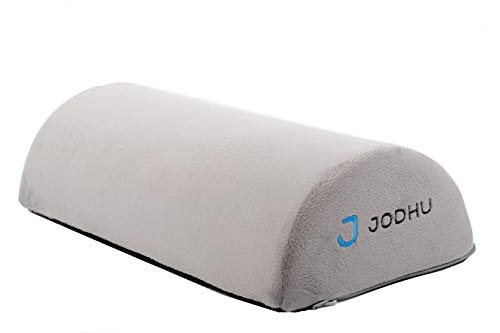 Jodhu Foot Cushion with Non-Slip Nylon Cover, Most Comfortable Cushion for Office, Ergonomic Foot Rest for Under Desk, For Travel, Plane or home. Great for Back Pain or Leg Pain. Correct bad Posture