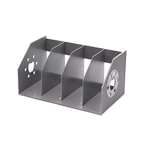 4-Fach-Datei-Halter-Datei-Bar-Speicher-Rack Daten-Rack-Finishing-Korb Bücherregal-Informationen Regal-Datei-Organisator