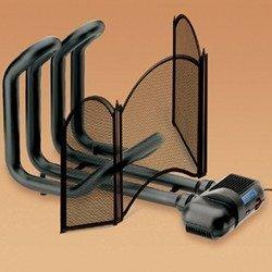 Vortice 70710 termoventilatore da caminetto caldofà vortice con parascintille, nero