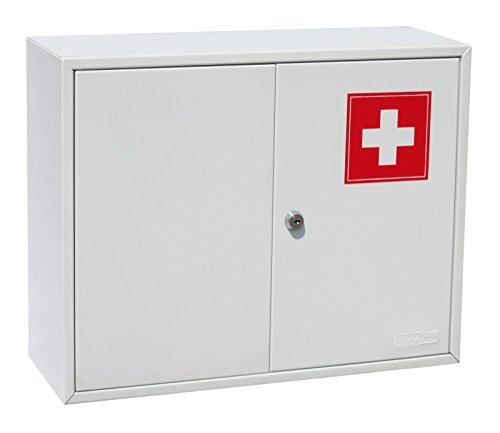 OfficeForce Medikamentenschrank aus Metall, Kindersicher, 36x45x15cm (20098)