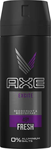Axe Bodyspray Excite ohne Aluminiumsalze, 150 ml, 3er Pack (3 x 150ml)