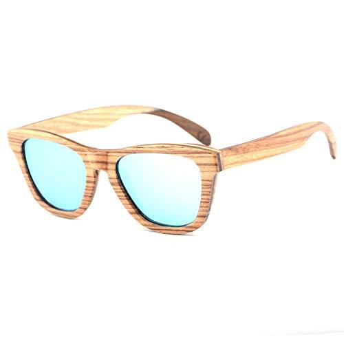 Männer Frauen Skateboard Holz Polarisierte Bambus Brillen Mit Farbiger UV Linse Polarisierte Brille (Farbe: GRÜN)