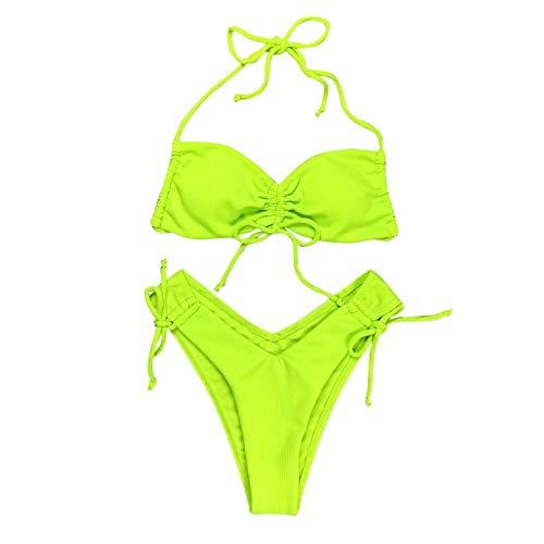 Malloom-Bekleidung Bikini Thong Bikini Beach Set Push-up-Bikini-Badeanzug-Badeanzug Bikini Brustgurt entfernt Werden kann, Zwei Arten Bademode Bademode Frauen Badeanzug Swimsuit swimanzug Swimwear