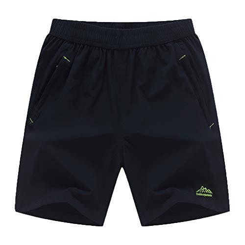 Lands End Jungen Shorts (Celucke Sporthosen Männer Kurz Trainingsshorts Herren Fitness Running Sport Laufshorts Tasche Mit Reißverschluss, Kompression Atmungsaktiv Stretch Performance Pro Dry Shorts)