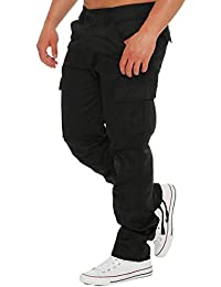 68ce4afb8e98 Finchman Herren Cargo F1001 Hose Lang Trousers Pant Freizeithose Tapered Fit