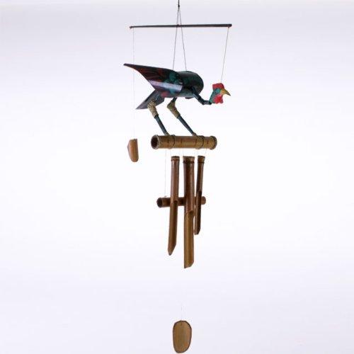 Carillon en bambou en forme de coq
