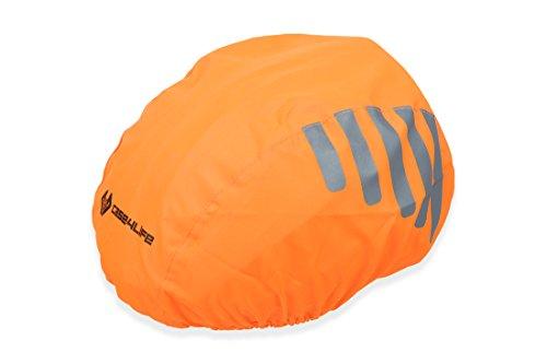 Case4Life Orange Wasserdicht Hohe Sichtbarkeit Reflektierend Fahrräder Helmabdeckung - Lebenslange Garantie