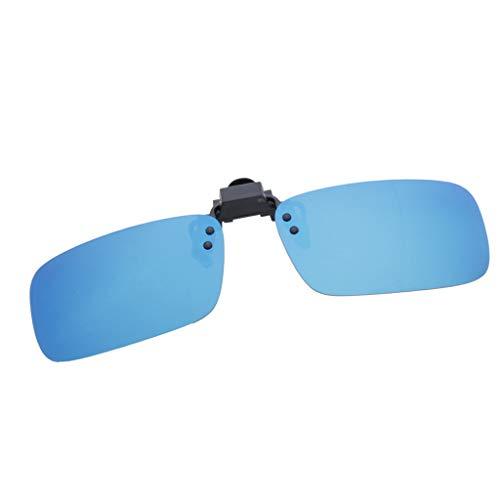 P Prettyia Sonnenbrille Clip, Sonnenbrille Aufsatz Polarisationsbrille Clip UV400-Schutz - Blau